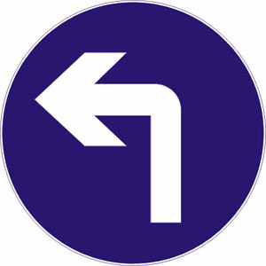 向右转弯标志 转弯标志