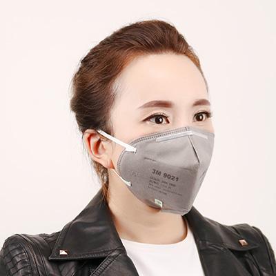 3M9021折叠式颗粒物防尘口罩