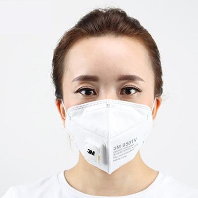 3M 9501V折叠式颗粒物防尘口罩