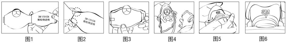 1211颗粒物呼吸防护组合安装及佩戴流程: