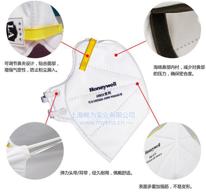 霍尼韦尔H901 KN95折叠式防尘口罩 产品特点
