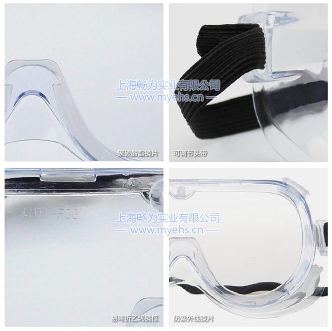 3M  1621防化学护目镜 产品细节展示