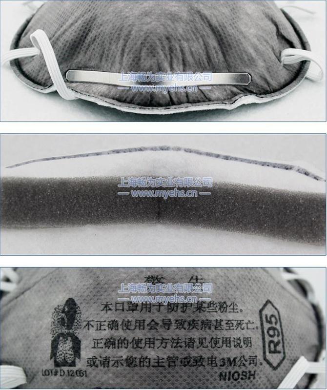 3M 8247有机蒸气异味及颗粒物防护口罩 产品展示