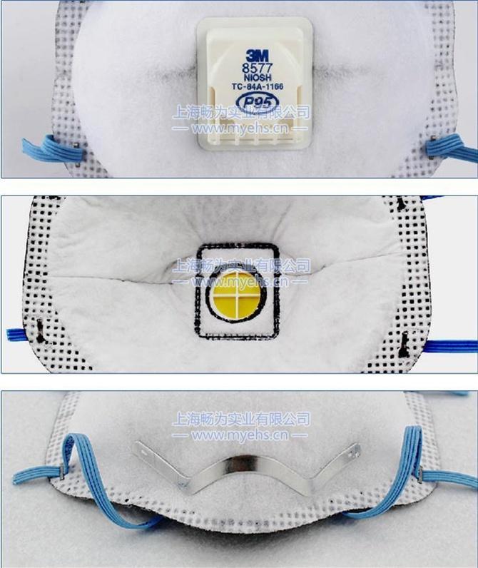 3M 8577有机蒸气异味及颗粒物防护口罩 产品细节展示