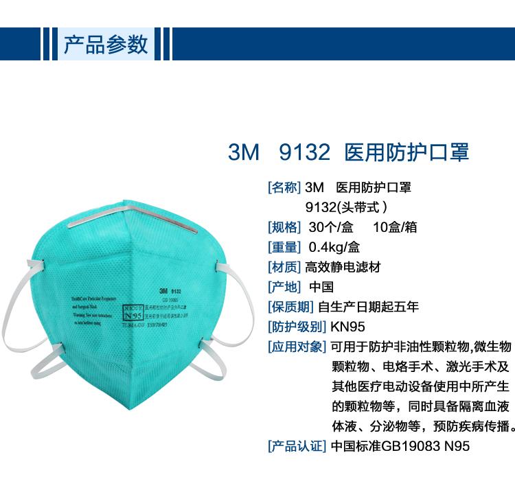 斯博瑞安_3M 9132 N95医用防护口罩_3M防护口罩价格|材质|规格|厂家-选畅为 ...