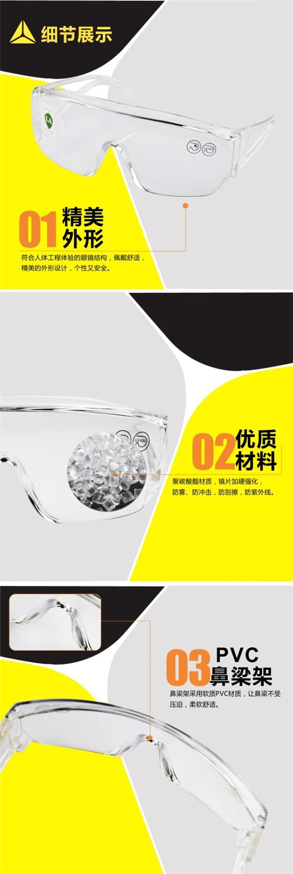 代尔塔101114 超值款访客安全防护眼镜