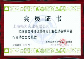 劳动保护协会会员证书